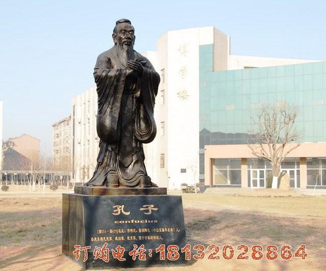 孔子铜雕,校园名人铜雕 (1)[1][1]