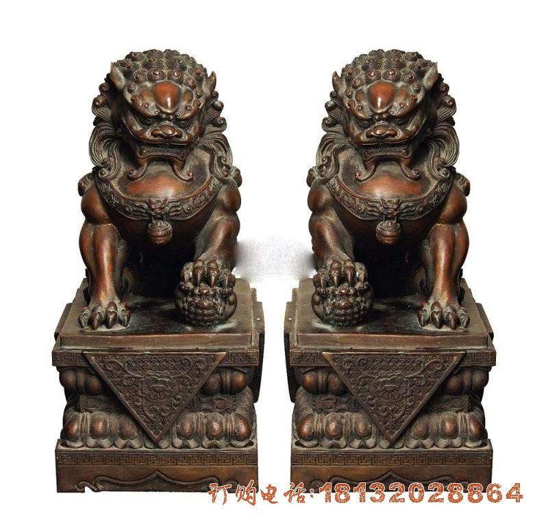 铜雕狮子 戏球狮铜雕