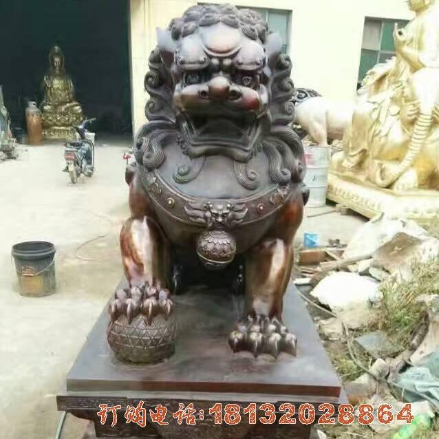铜雕狮子,北京狮必威体育娱乐 (2)