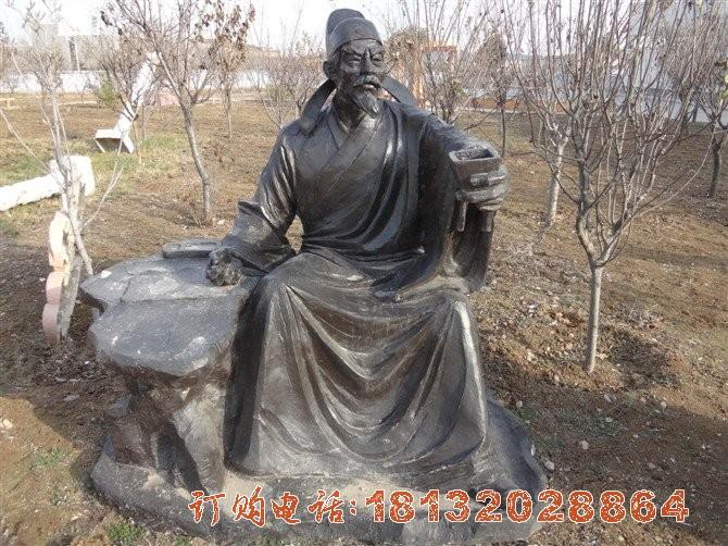 拿酒杯的李白铜雕 公园古代人物铜雕