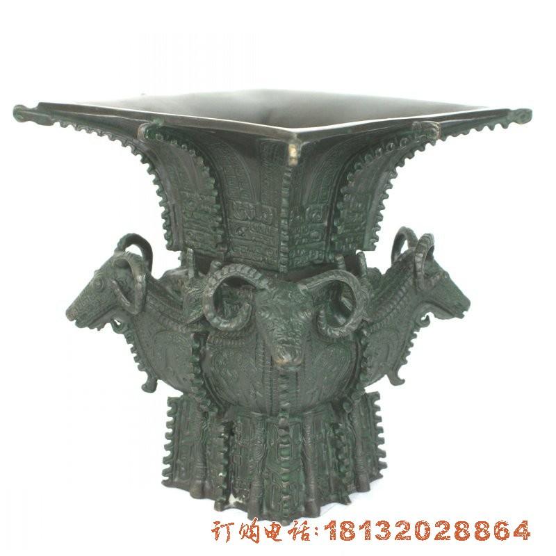 四羊方尊铜雕