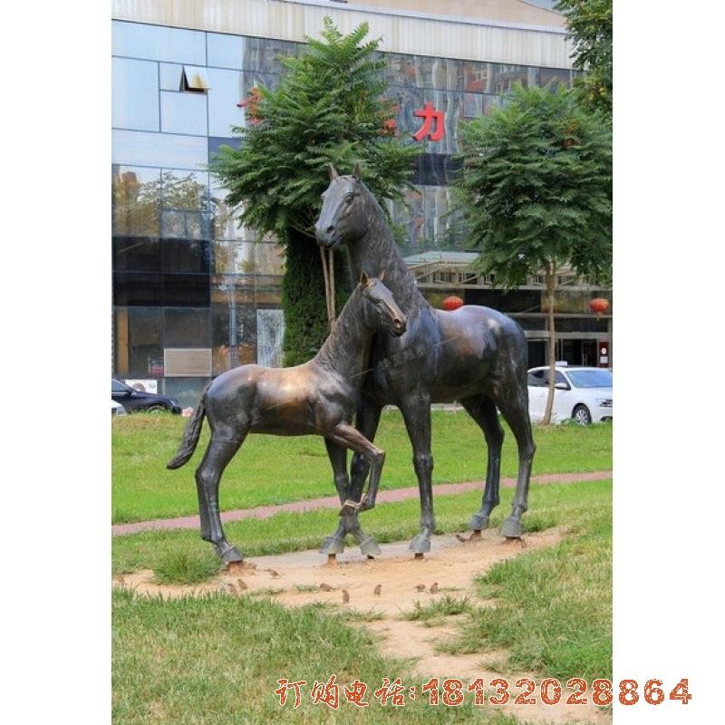 母子马铜雕 公园马必威体育娱乐