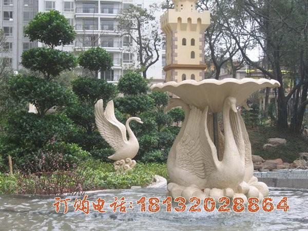 小区动物喷泉石雕