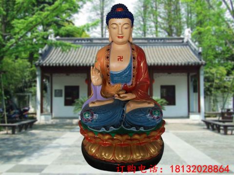 彩绘达摩祖师佛像