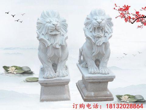汉白玉西洋狮子