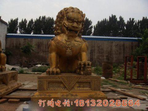 北京狮铜雕