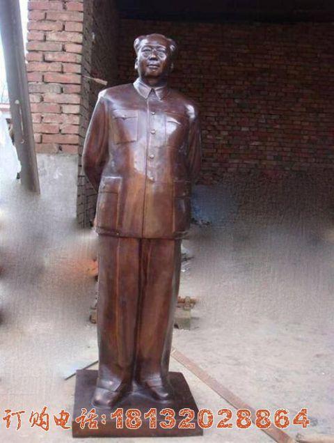 铜雕立式毛主席