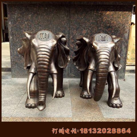 吉祥大象铜雕