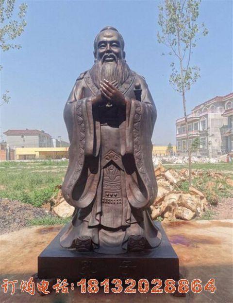 孔子行教像铜雕