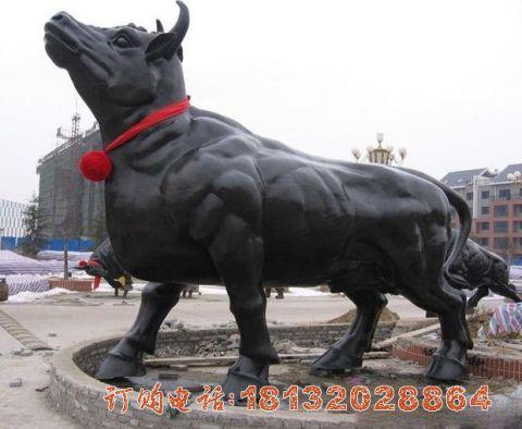动物铜雕-牛