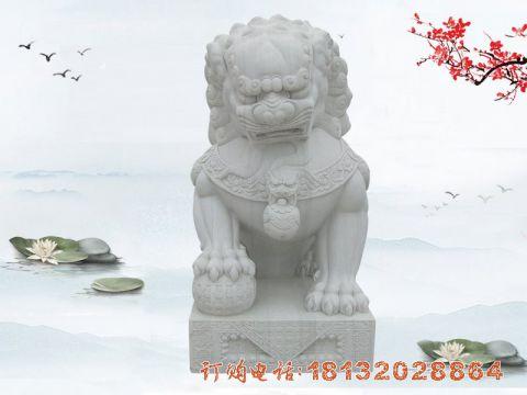 汉白玉狮子石雕