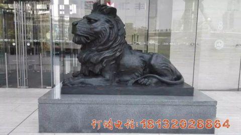 汇丰狮子铜雕