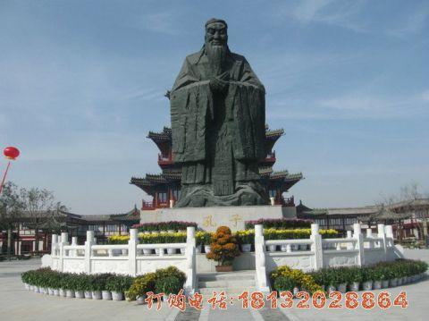 大型锻铜孔子雕像
