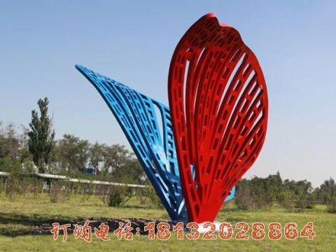 彩色不锈钢抽象蝴蝶必威体育娱乐