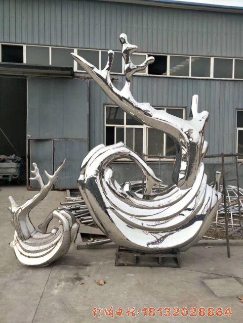 不锈钢抽象海浪浪花必威体育娱乐