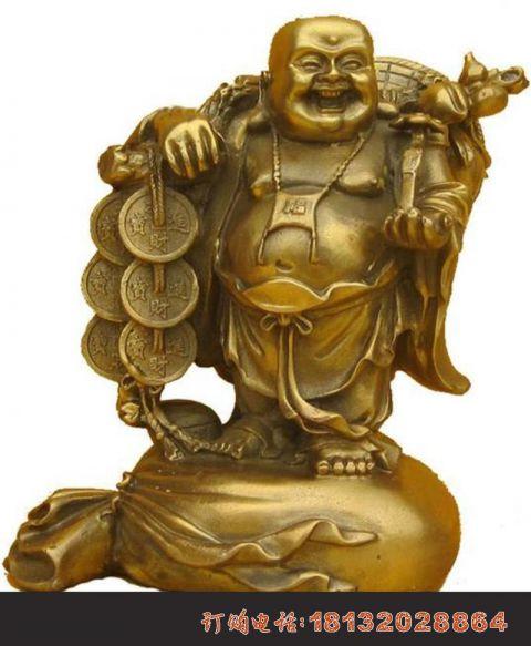 招财弥勒佛铜雕