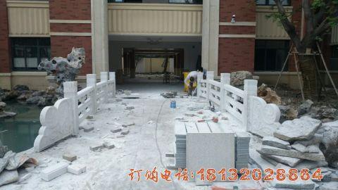 南京汉白玉栏板安装效果