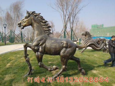 公园奔马铜雕
