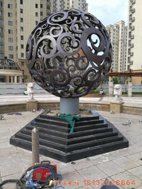 廊坊不锈钢镂空球施工
