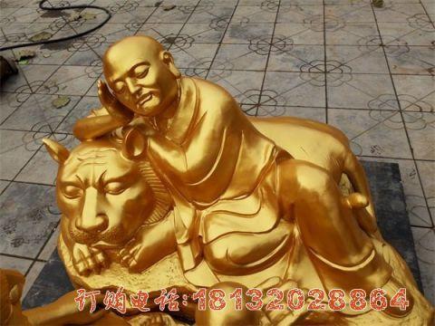 伏虎罗汉铜雕