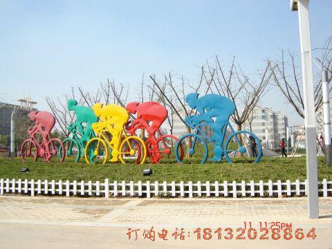不锈钢抽象自行车人物必威体育娱乐