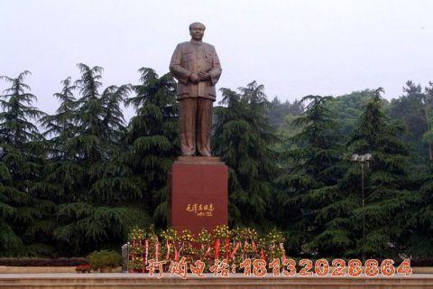 立式毛主席铜雕