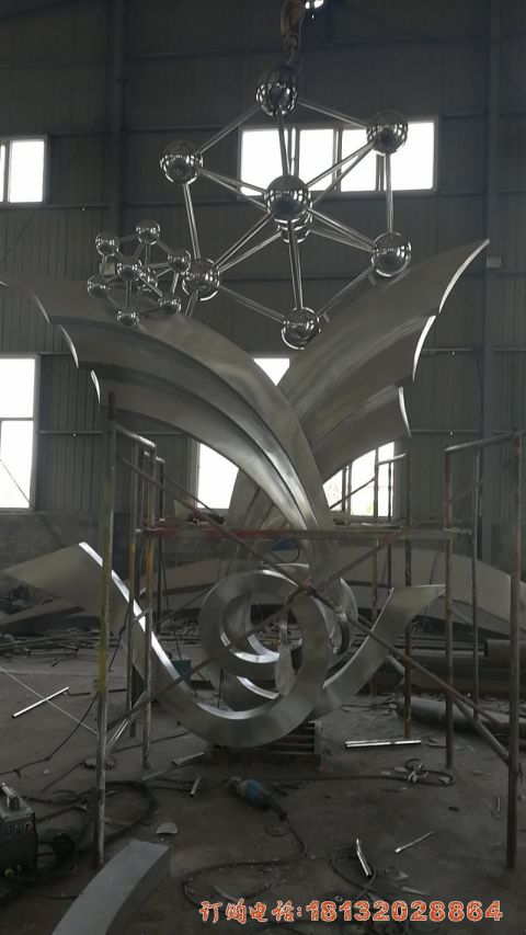 山东不锈钢抽象分子结构案例