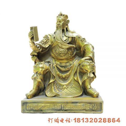 关公读春秋铜雕