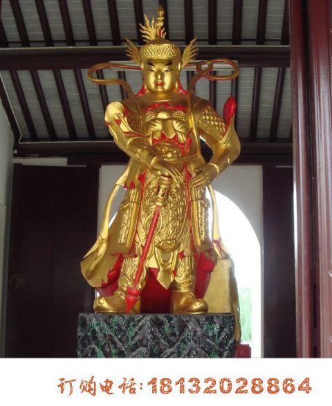 寺庙韦陀菩萨铜雕