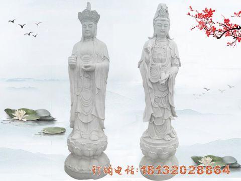 石雕地藏菩萨观音菩萨