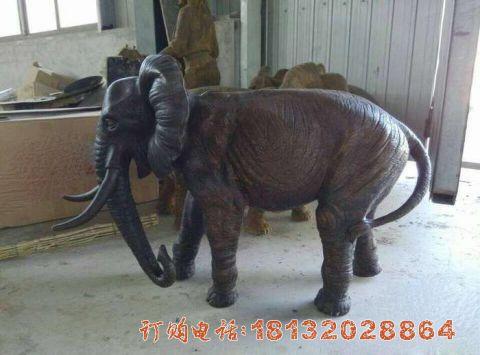 镇宅大象铜雕
