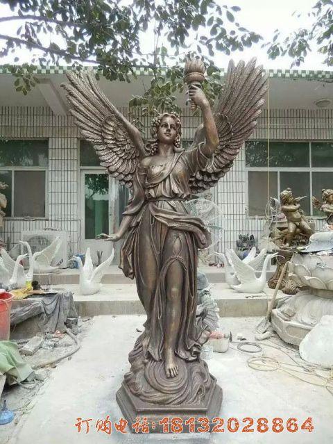 西方天使铜雕