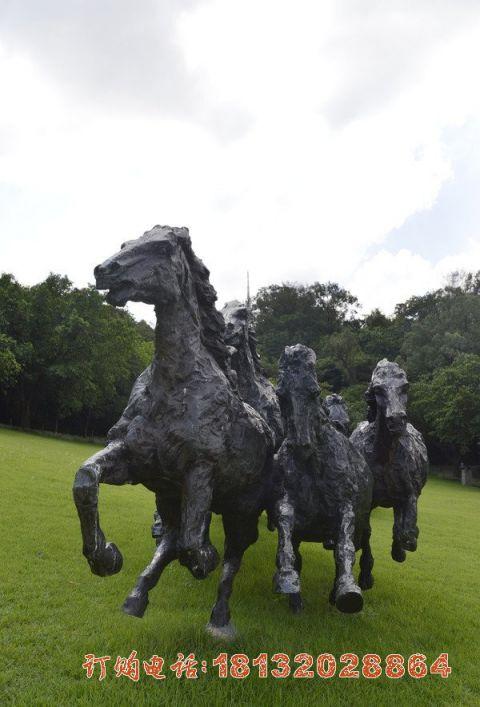 抽象奔马石雕