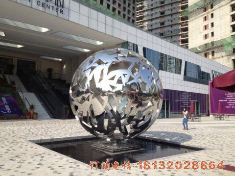 安徽不锈钢镂空球案例