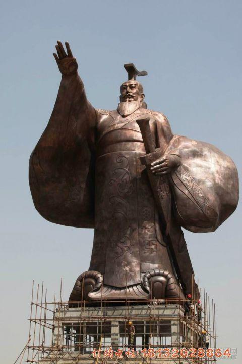 大型秦始皇铜雕