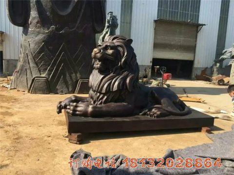 西洋狮子铜雕