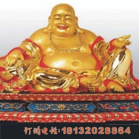 彩绘弥勒佛铜雕