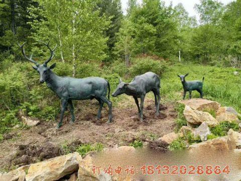 铜雕梅花鹿