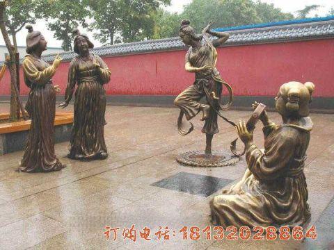 古代仕女铜雕