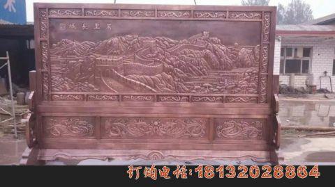 万里长城铜浮雕