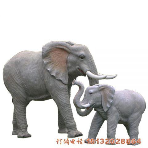 玻璃钢仿真母子大象