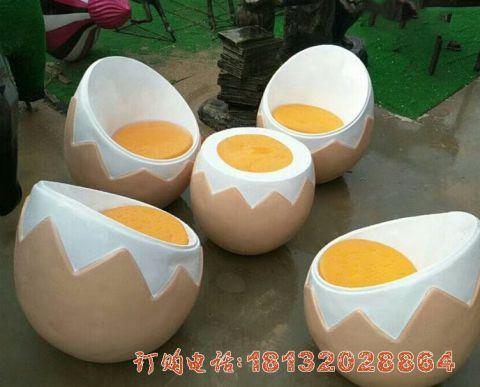 玻璃钢仿真鸡蛋桌椅