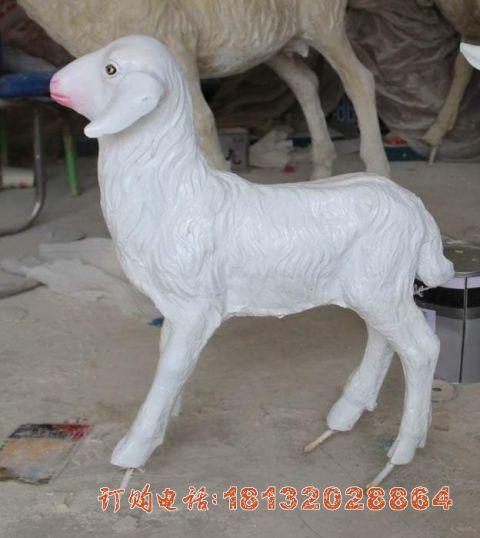 玻璃钢仿真小羊