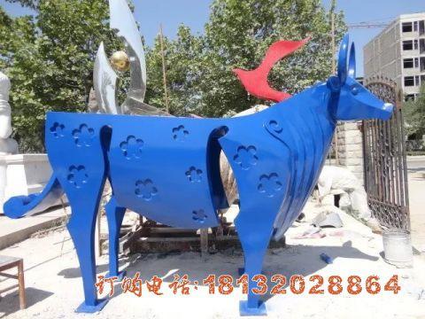 彩色不锈钢抽象牛