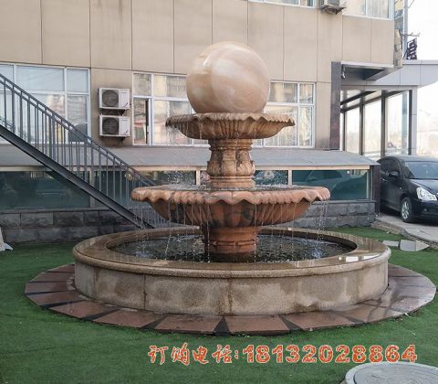 风水球喷泉石雕