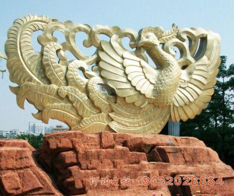 广场凤凰铜雕