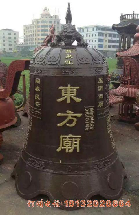 铜雕寺庙钟