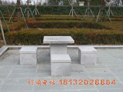 公园大理石方桌凳