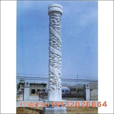 石雕广场龙柱