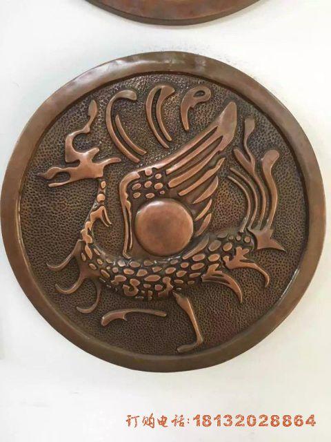 朱雀铜浮雕